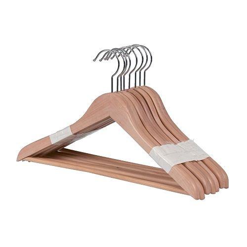 Ikea BUMERANG - Curved suspensión de Ropa, 8 Paquete Naturales