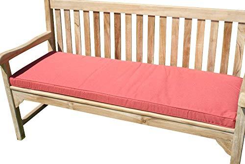 Garden Market Place Gartenmöbel-Kissen für 3-Sitzer-Gartenbank, Terrakotta, Orange, 95 X 45 X 35