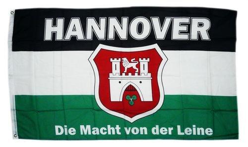 Sturmflaggen® Flagge Fahne Hannover Macht von der Leine 90 x 150 cm