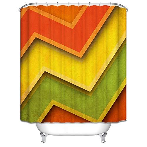 Amody Bad Vorhang Für Badzimmer Streifen Polyester Duschvorhang Anti Schimmel 120x180CM Duschvorhang Zubehör