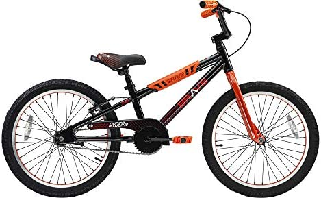 Brave Black and Orange Freestyle BMX Kids 20 Bicycle Lightweight Aluminum Frame and Fork Easy product image