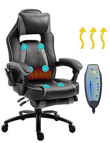 Delman Massage Gaming Stuhl Racing Stuhl Bürostuhl XXL Size Computerstuhl Wärmefunktion...