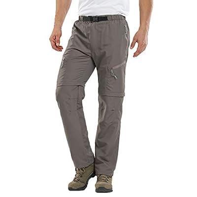 Uni Clau Men's Casual Hiking Pants - Convertible Quick Dry Outdoor Fishing Safari Pants Khaki