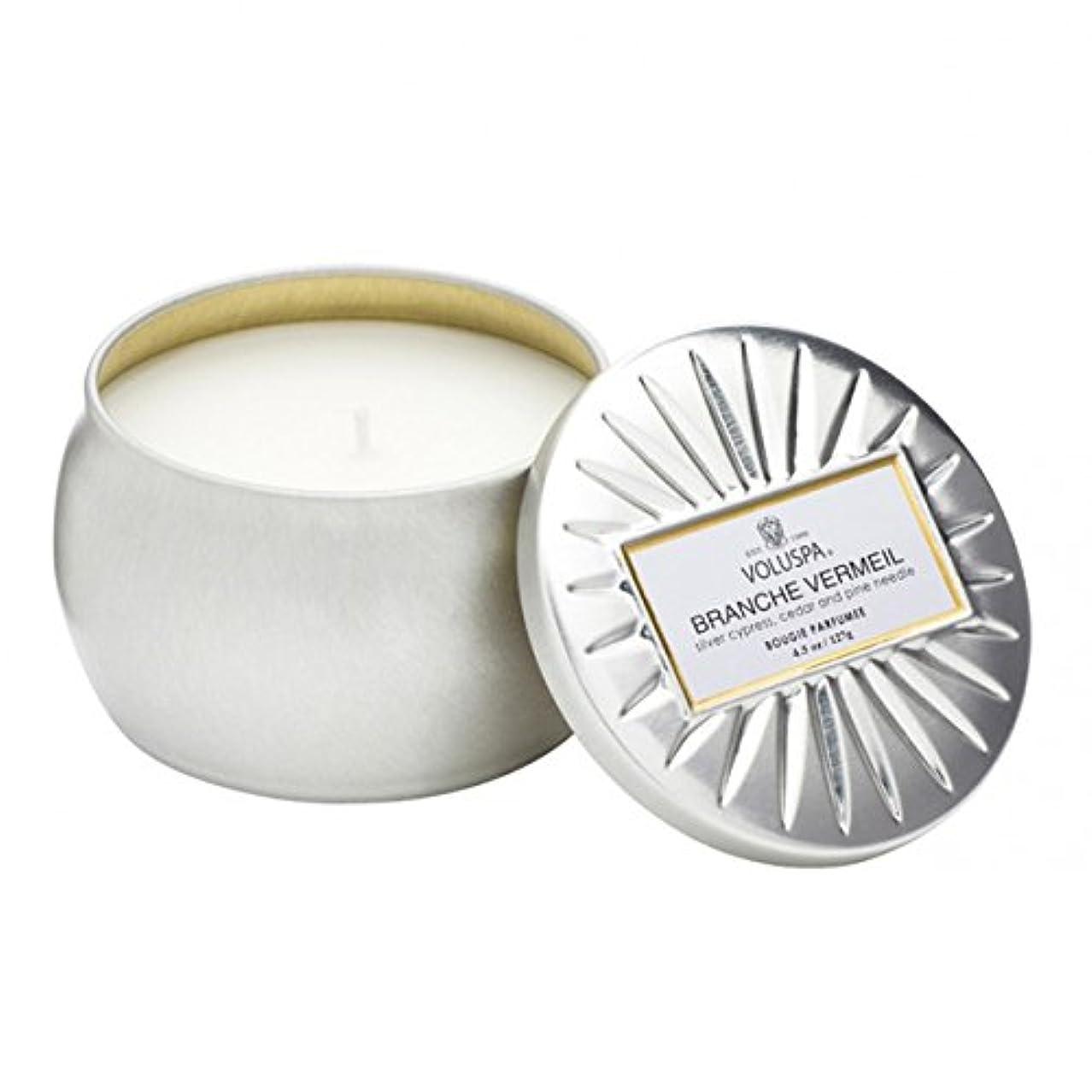 速度ワードローブ名前を作るVoluspa ボルスパ ヴァーメイル ティンキャンドル  S フ?ランチヴァーメイル BRANCHE VERMEIL VERMEIL PETITE Tin Glass Candle