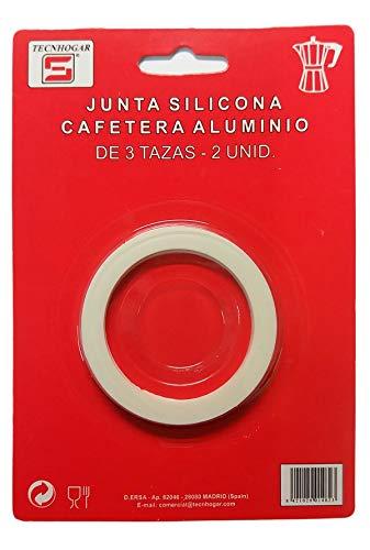 Distribuidora Ersa Junta para Cafetera, Silicona, Blanco, 16,5 x 11,5 x 1 cm, 2 Unidades