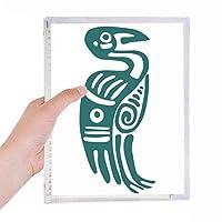 トーテムイーグルメキシコメキシコ古代文明の鳥 硬質プラスチックルーズリーフノートノート