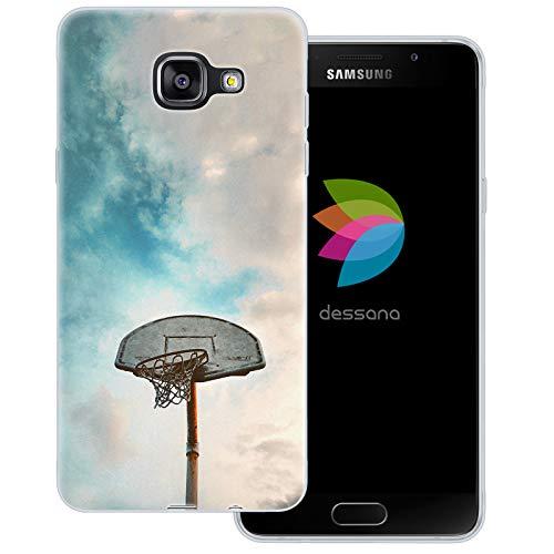 dessana - Cover trasparente per Samsung Galaxy A5 (2016), motivo: pallacanestro