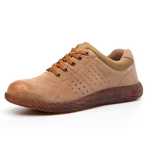 Zapatos de Trabajo,Antideslizante Botas de Seguridad Hombre Mujer,Zapatos con Puntera de Acero Zapatillas Ligero Zapatos de Trabajo Respirable Construcción Deportiva Zapatos Botas de Seguridad