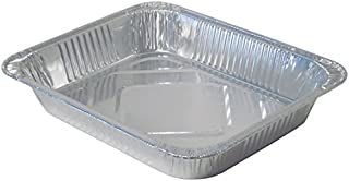 Durable Packaging Aluminum Steam Table Pan, Half-Size, Medium, 2-3/16