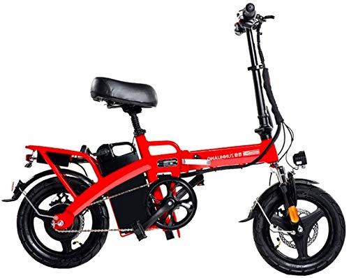 Bicicleta eléctrica de nieve, Bicicletas for adultos plegable eléctricos Comfort bicicletas híbridas bicicletas reclinadas / Road 14 pulgadas, la más alta de 28 Ah Batería de litio, acero de alto carb