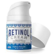 #LightningDeal LilyAna Naturals Retinol Cream for Face - Made in USA, Retinol Cream, Anti Aging Cream, Retinol Moisturizer for Face and Neck, Wrinkle Cream for Face, Retinol Complex - 1.7oz