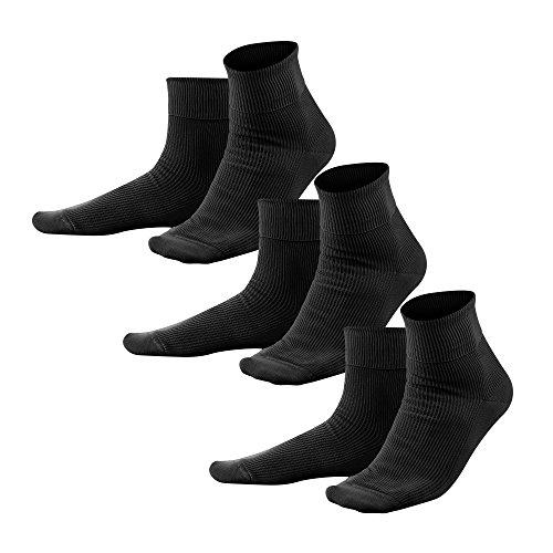 Living Crafts Socken 39-40, black(3x)