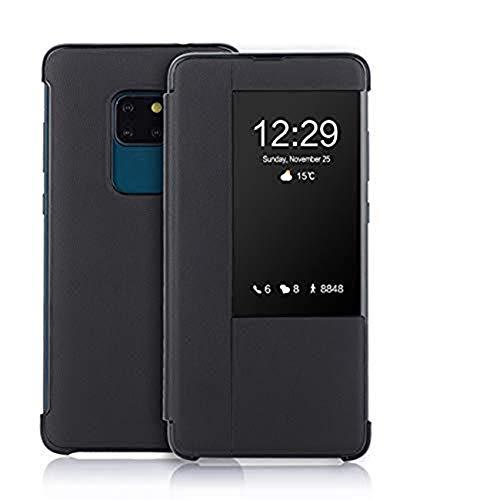 Huawei Mate 20 X Hülle, Handyhülle Mate 20 X Tasche PU Leder Flip Hülle Brieftasche Etui mit Standfunktion Premium Lederhülle Schutzhülle Cover für Huawei Mate 20 X (Schwarz, Mate 20X 7.2)
