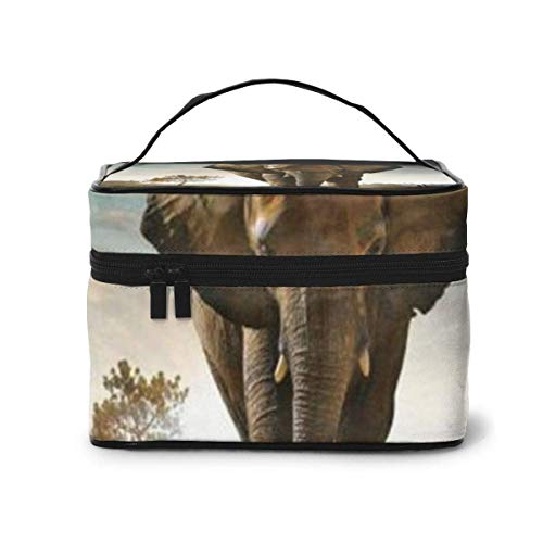 Elephant Travel Cosmetic Case Organizer Portable Artist Storage Bag, Multifunction Case Toiletry Bags-35-4Z