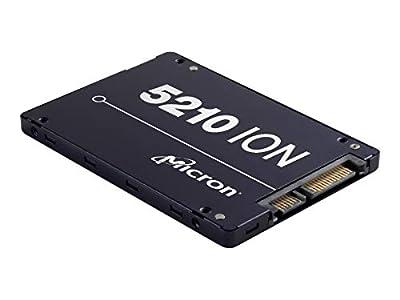 """Micron 5200 5210 ION 3.84 TB Solid State Drive, SATA 6 Gb/s, 2.5"""" Drive, Read Intensive, 0.8 DWPD, Internal, 540 MB/s Max Read, 350 MB/s Max Write"""