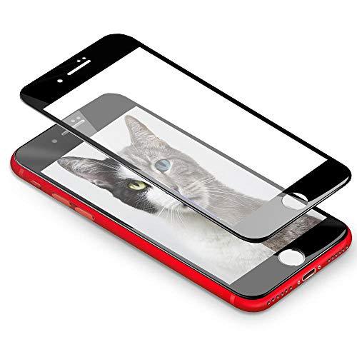Gypsophilaa [2 Piezas] iPhone 7 Plus Protector de Pantalla 3D Round Edge, Vidrio Cristal Templado[9H Dureza] [Alta Definicion][Fácil de Instalar] Tempered Glass Screen Protector para iPhone 8 Plus