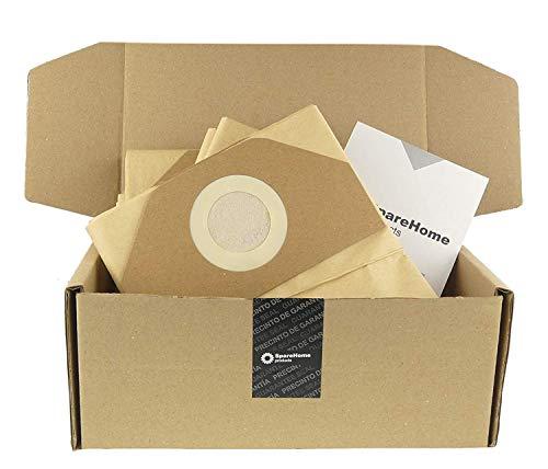 10 Bolsas SpareHome® De Alta Filtración compatible con Aspiradores Black Decker BXVC20PTE, BXVC20XE