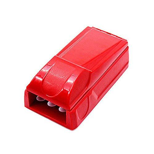 Sigarettenetui XYDBB Triple handmatig injector rollenfabrikant accessoires voor het roken van kruiden,  Azul Y Amarillo (rood) - XYDBB-YH11