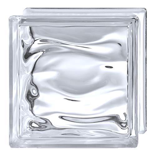 Bloque de vidrio Bormioli Rocco Agua Reflejos Blanco Neutro | cm 19x19x8 | Unidad de venta 1 caja de 6 pzas