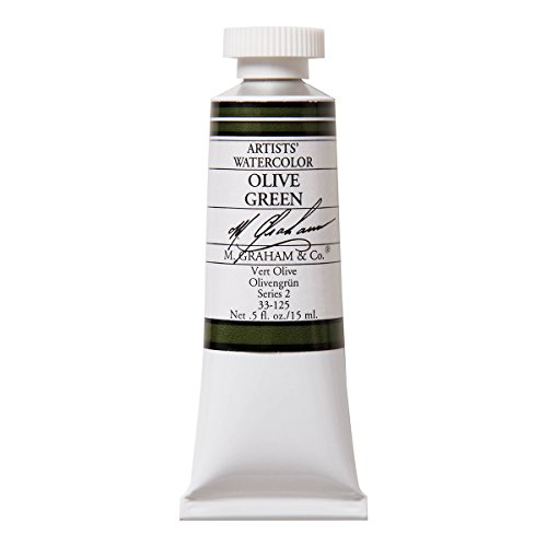M. Graham 1/2-Ounce Tube Watercolor Paint, Olive Green
