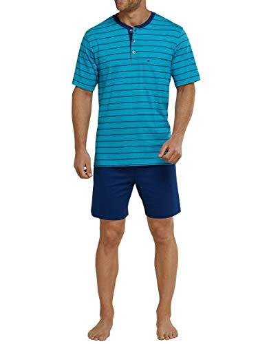 Seidensticker Herren Anzug Kurz Zweiteiliger Schlafanzug, Blau (Blau 800), XXXX-Large (060)