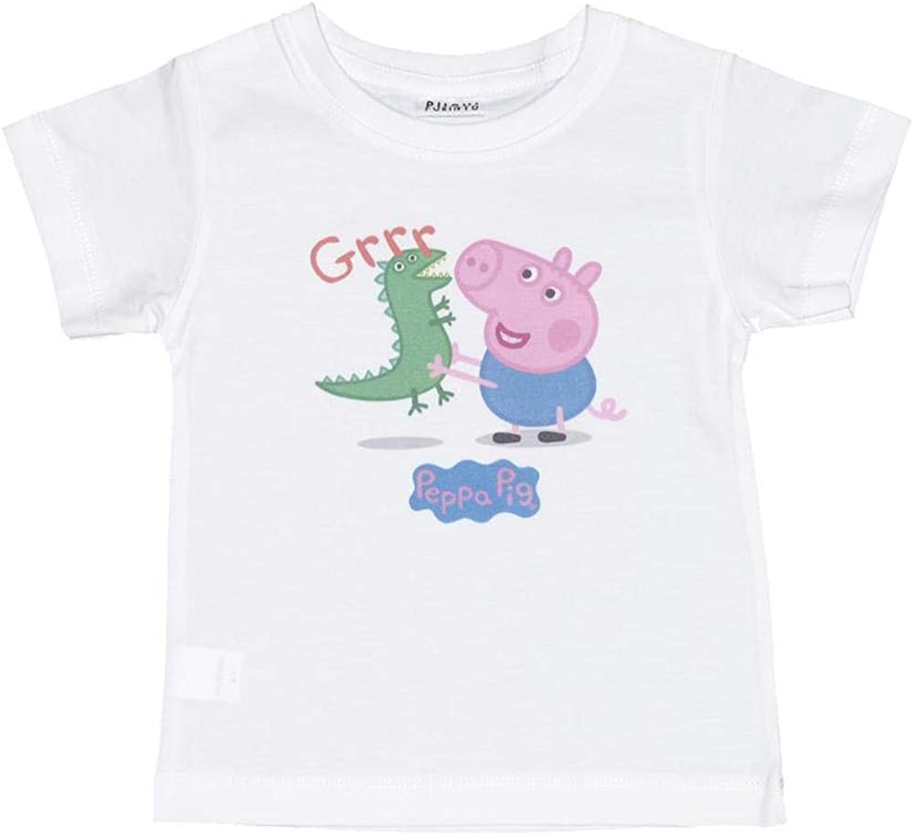 T-Shirt George Pig with his Dinosaur Tops tees Outfits Unisex Round Neck
