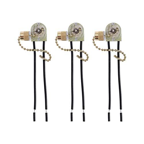 Mobestech Cable de cadena de 3 piezas Zing Ear ventilador de techo de repuesto encendido/apagado interruptor de cadena