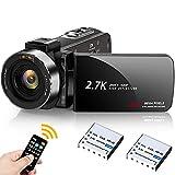 Video Camera 2.7K Camcorder Weton UHD 42MP Vlogging Camera for YouTube IR Night Vision 3.0 Inch Digital Recorder 18X Digital Zoom Video Camcorder with 2 Batteries