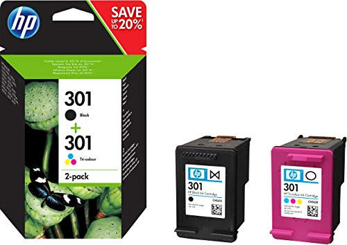 Pack 2 Cartouches d'encre HP 301 (Negro - Cian, Magenta, Jaune)