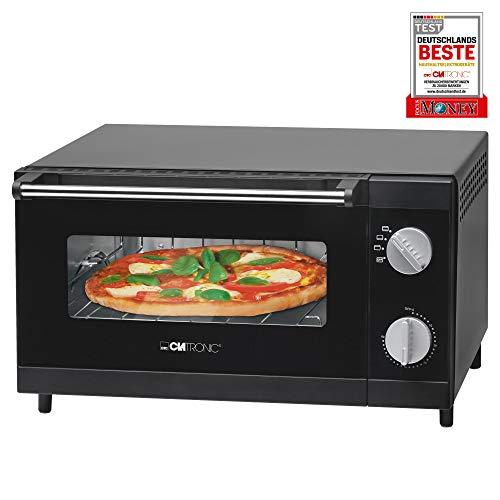 Clatronic Multi-Pizza-Ofen MPO 3520, Ober- und Unterhitze im Kombibetrieb möglich, 12 Liter Backraum, schwarz