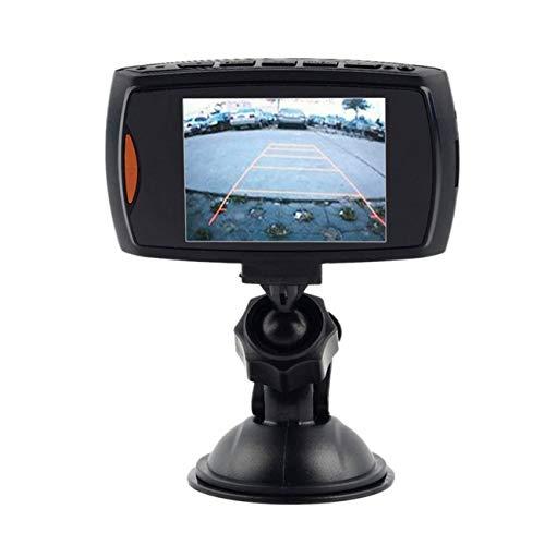 Ashley GAO Cámara de salpicadero delantera y trasera, 6 LED DVR para coche, cámara de vídeo de 2,3 pulgadas, pantalla LCD G-Sensor de visión nocturna, grabadora de cámara de vehículo