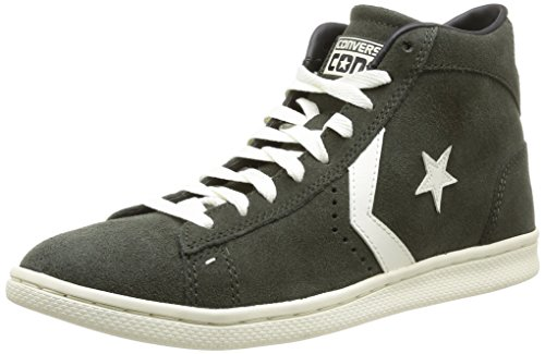 Converse, PRO Leather LP Mid Suede, Sneaker, Unisex - Adulto, Verde (Loden Green/off White), 36