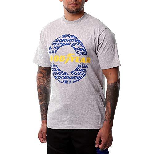 Goodyear GYTS020 Mens Arbeit Klassische Grafik Baumwolle Leichte Soft-Touch-T-Shirt Arbeitskleidung Top, Grau Marl, 2X-Large