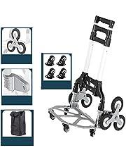 Opvouwbare Steekwagen, Opvouwbare Trolley Voor Zwaar Gebruik, Steekwagen, 360 Graden Draaiend Wiel - Voor Bagage,verhuizen En Kantoorge Bruik, Laadvermogen: 70 Kg 64 * 39 Cm (Color : Black-4)