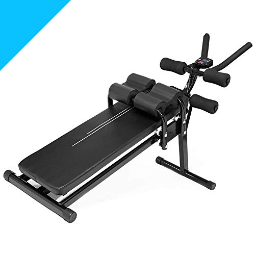 ALING Ab Machine Exercise Equipment, Foldable Sit Up Bench Adjustable Workout Bench Fitness Equipment for Home Gym, Foldable Professional Abdominal Trainers