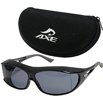 サングラス 偏光 オーバーグラス オーバーサングラス SG-605P AXE アックス メガネの上から