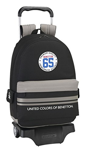 Benetton Boys Mochila Tipo Casual, Color Negro