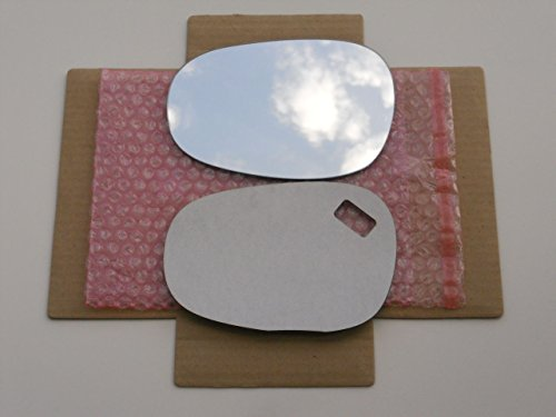 CHECK SIZE - New Replacement Mirror Glass with FULL SIZE ADHESIVE for BMW 128 135 323 328 335 M3 Driver Side View Left LH