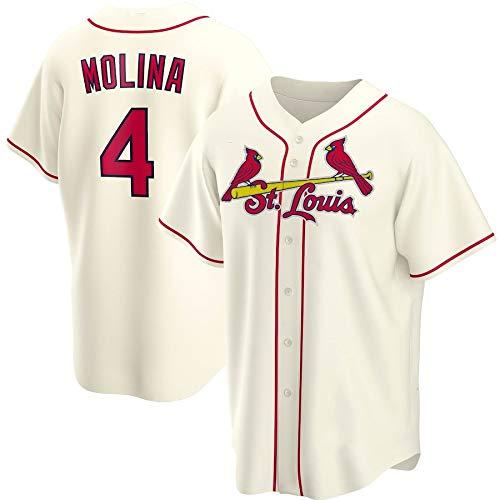 JMING Camiseta De Béisbol para Hombre, Cardinals #4 Yadier Molina Aficionados Y Aficionados Uniformes De Béisbol,Uniformes De Juego, Camisetas Deportivas De Manga Corta (S,A2)