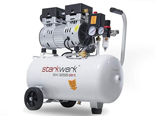 750 Watt !69db! 8 Bar ölfrei Flüsterkompressor Druckluftkompressor Silent Compressor leise Starkwerk SW 325/08