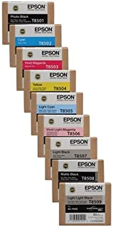 Epson T850 Ultrachrome HD Ink Bundle for the SureColor P800 Inkjet Printer, Consists of Photo Black, Cyan, Vivid Mageta, Y...