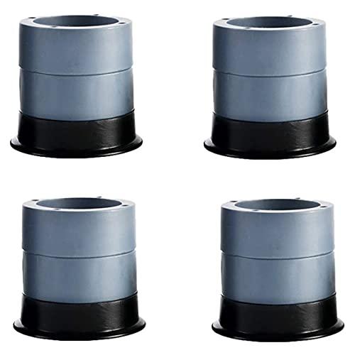 Alfombrilla antivibración, 4 almohadillas + 8 niveles – Base para lavadora y secadora, almohadilla de goma ajustable, almohadillas amortiguadoras de vibración, almohadilla antiwalk (gris, 7 cm