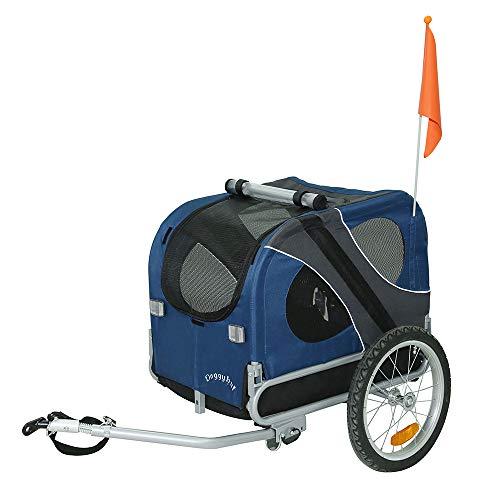 Doggyhut Remorque de vélo pour animaux chien Remorque de...
