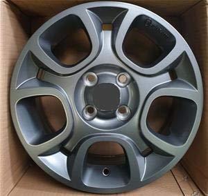 NOT OEM 51963459 - Juego de 4 llantas de aleación para Fiat 500, Panda15 pulgadas W165 original, color antracita