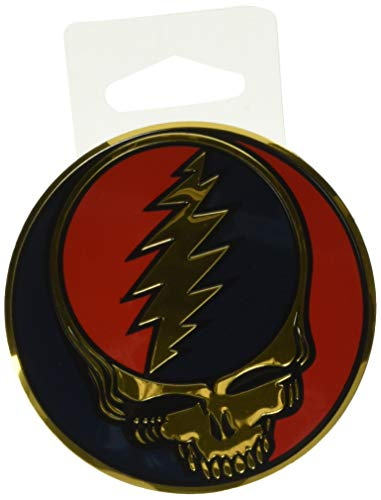 Officially Licensed & Trademarked Products GDP Inc, Grateful Dead, The Classic Steal Your Face Artwork Emblem, Embossed