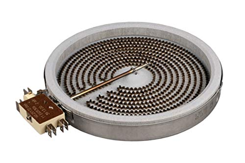 BSD Calefactor de Hornilla Placa Cocina Vitrocerámica 180mm 1800W