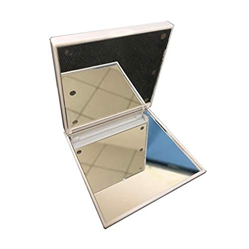Kkoqmw Espejo de tocador con Espejo de Maquillaje, con 6 Luces LED pequeñas, Interruptor de Espejo Cuadrado, batería, Toque, atenuador, Soporte de operación, Espejo de tocador