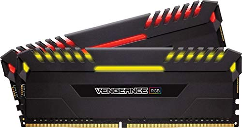 Corsair Vengeance RGB 16GB (2 x 8GB) DDR4 2666MHz C16 XMP 2.0 Enthusiast RGB LED-Beleuchtung Speicherkit, schwarz