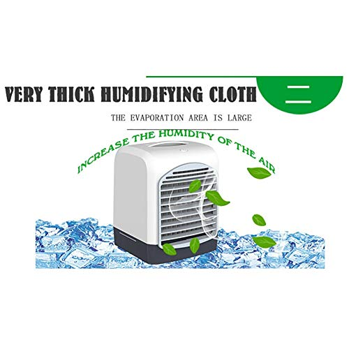 MONKEANGC Portable Air Conditioner Water Cooling Fan USB Mini Air Cooling Fan (Color : White)