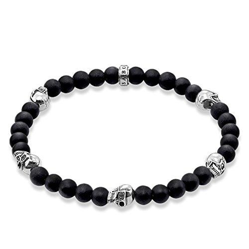 Thomas Sabo Damen-Armreifen Künstliche Perle A1097-023-11-S